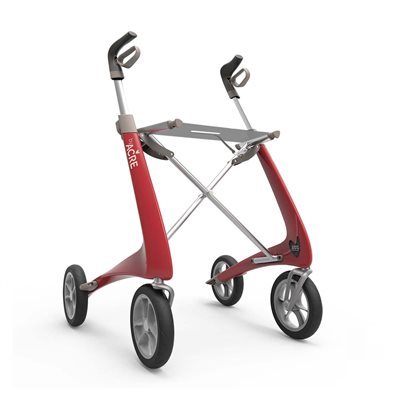 Rollator - ByACRE Carbon Ultralight - Rød